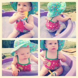 Pool time ❤☀😃👶👍#instacollage