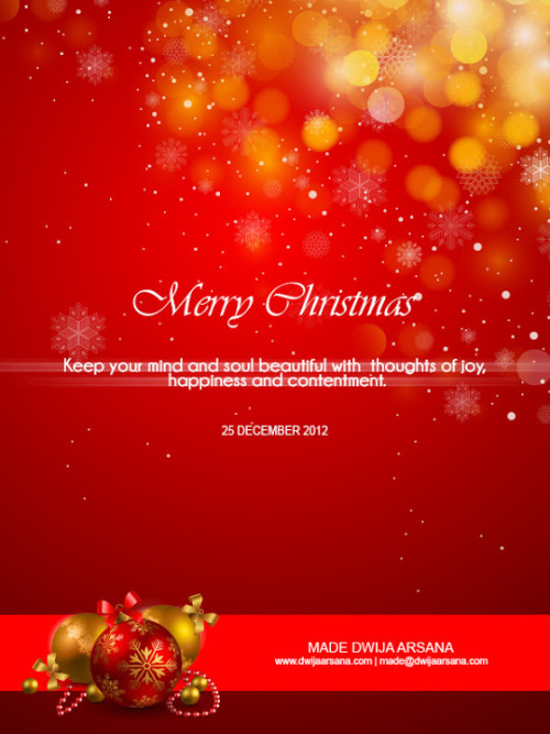 Merry Christmas 25 Dec 2012Merry Christmas Keep your mind and soul beautiful with thoughts of joy, happiness and contentment. View Postshared via WordPress.com