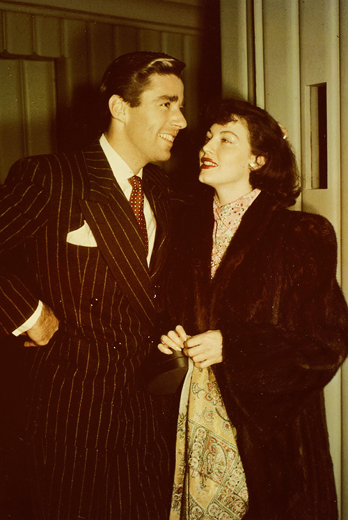 Peter Lawford and Ava Gardner, C.1950's
