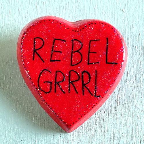 rebel grrrl rebel girl bikini kill kathleen hanna brooch nasty nasty nastynasty etsy diy feminist feminism riot grrrl