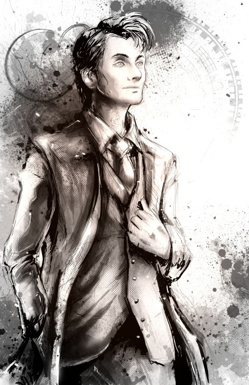 Sketching out the Tenth Doctor