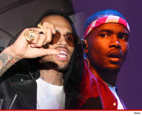 "Always Charming & Classy [Not] Chris Brown Gets Into A Fight With Frank Ocean TMZ reports:  Chris Brown was involved in an all-out brawl with Frank Ocean Sunday night, and sources connected with Chris insist Ocean started it. Chris was at Westlake Studio in the L.A. area listening to one of the artists he represents. The sources say as Chris went to leave, Frank Ocean and his crew blocked Chris from leaving. The sources say Frank said, ""This is my studio, this is my parking spot."" We're told Chris went to shake Frank's hand … and that's when one of Frank's people attacked Chris. Sources connected with Chris say one of Chris' friends jumped in front and hit Frank's friend. Sources connected with Chris say Frank then came at Chris … Chris pushed him away and they started brawling. Everest is Frank Ocean's dog, who was credited as ""executive producer"" on the chart-topping album, Channel Orange.     The New York Daily News says deputies are considering assault charges against the woman-beater Chris Brown."