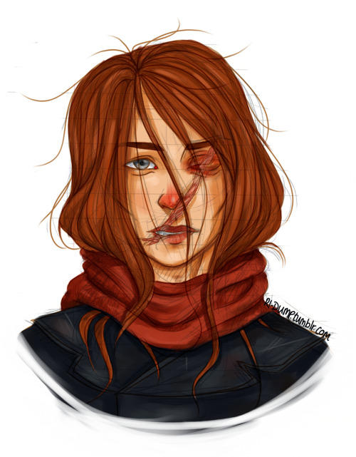 rl-dump:  I drew a sketch of Hester from the Mortal Engines series and decided to colour it. I'm not really sure how big the fandom is for Mortal Engines but I'm guessing it's pretty small so everyone seeing this who hasn't read them: go read them!