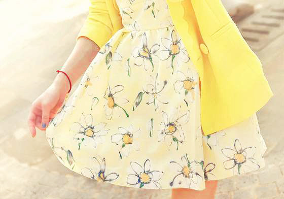 fashion-n-beauty:  Preppy Style Chiffon Dress