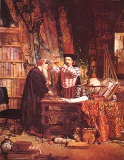 The alchemist by William Fettes Douglas (1822-1891)