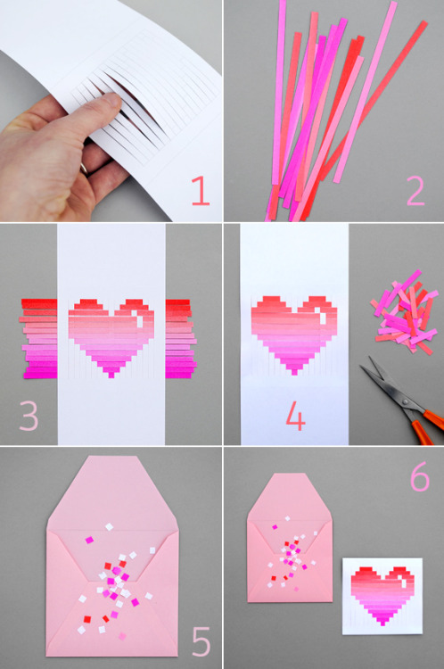 fuckyeahcraft:  How to make these amazing woven heart cards with Minie Co.