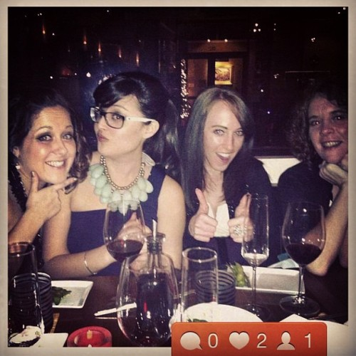 It's an instgram of an instagram!! #whimsey #newyearseve #girlsnight #friends