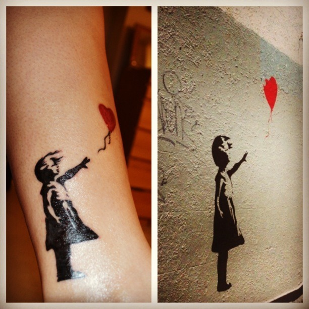 """Letting go"" my Banksy tattoo"