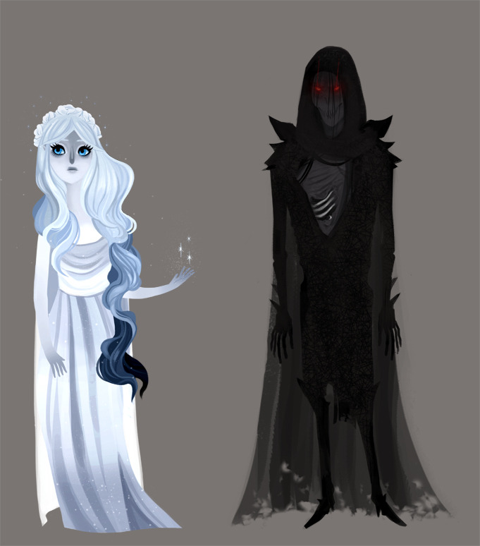Characters from the novel Throne of Glass.  Queen Elena and the creepy rotting guy from when Celaena got poisoned.  That's it!  Part of the reason why I chose this book to do for my term project in class was that the characters were really diverse.  Yes there are a lot of pretty people.  It's a YA novel what do you expect? But there are uglies as well, and supernatural characters which makes it fun to draw :)