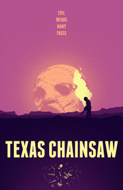 The folks at AMP (Alternative Movie Posters) are having a Texas Chainsaw poster design contest. Pictured above is my 5th entry.  by Derek Eads