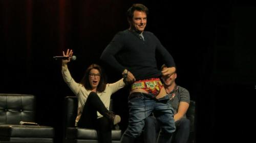 deathpoolquinn:  Ladies and gentlemen, John Barrowman and his Iron Man pants… Source