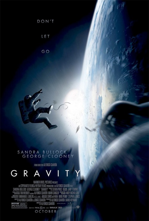 fuckyeahmovieposters:   Gravity  This was on my most anticipated films of last year but WB decided to pushed it to this year, CAN'T WAIT!