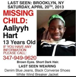 Help fckyeahbeautifulblackgirls:  REBLOG PLEASE. Help find this missing child