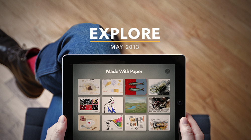 shiny & new The FiftyThree team has been working hard on a new update! Check out zoom and the beautiful Made With Paper stream—right in the app. See what the world is making. Download it here.