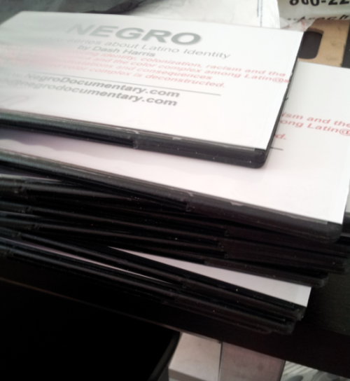 NEGRO: A docu-series about Latino Identity - Edition 1 DVDs ready to go! I threw in a key words and phrases list used in the video, such as 'gente de color', 'bozales', 'quilombo' and others, for those who are compelled for further research. RT: 120 min Order yours here!!!