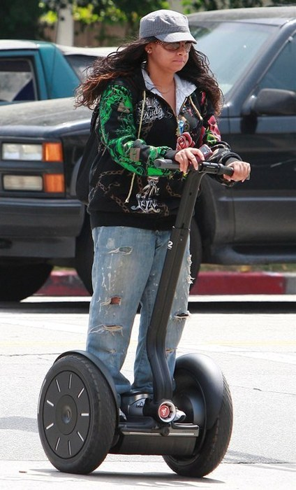 Is this Raven Symone on a segway?
