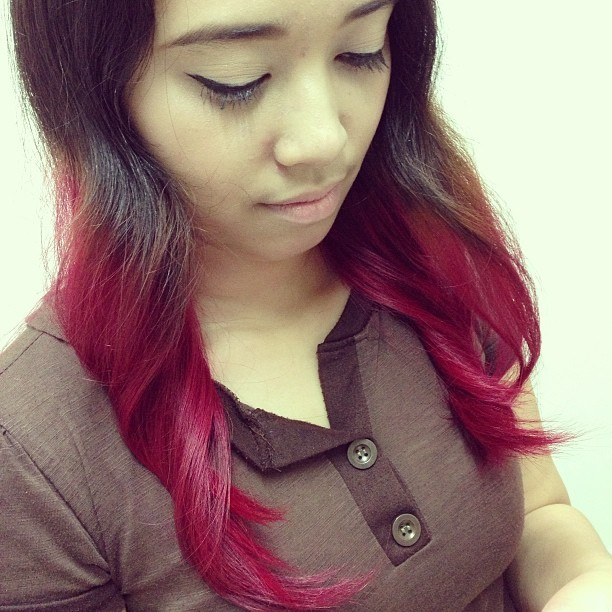 My creation!!! @sandra_clarissa07 i lured her to the #ombre trend! 💁