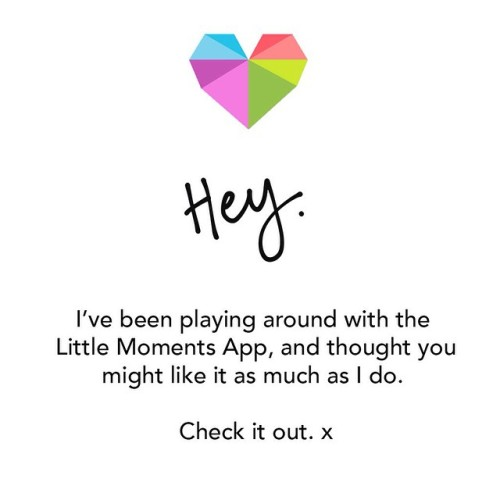 OMG. I'm, like, head over heels in love with this app, Little Moments. Sharing is caring, you know. #LittleMomentsApp