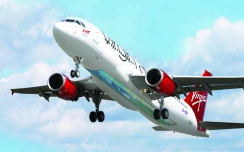 tastefullyoffensive:  Virgin Airlines Launches the First Glass-Bottomed Plane