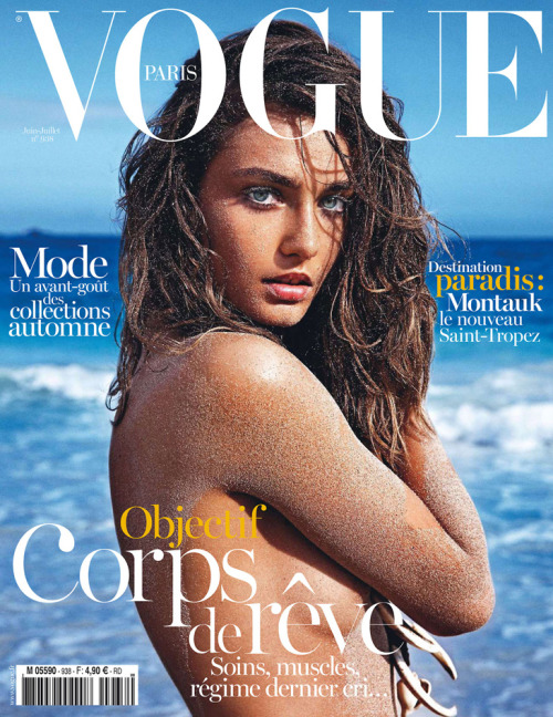 mirnah:  New Vogue Paris cover is an official opening to the beach editorials season with the gorgeous Andrea Diaconu masterfully lensed by fashion photographer Mario Sorrenti. Andrea fronts magazine's June / July 2013 edition.