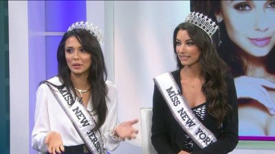 The two beauty queens from New York and New Jersey stop by before their next big competition.