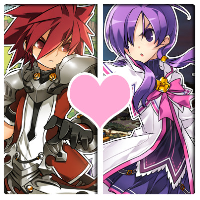 elsword:  Should Elsword and Aisha put their silly differences aside and just become a couple already!? ~<3