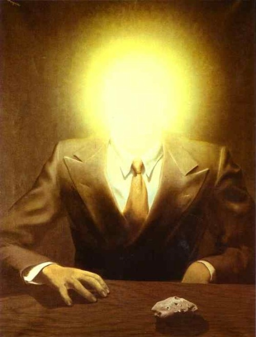 showslow:  The Pleasure Principle (Portrait of Edward James) by Rene Magritte, 1937