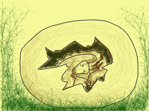 Li'l late hatching….only about 65 million years though! (Happy belated DADD!)