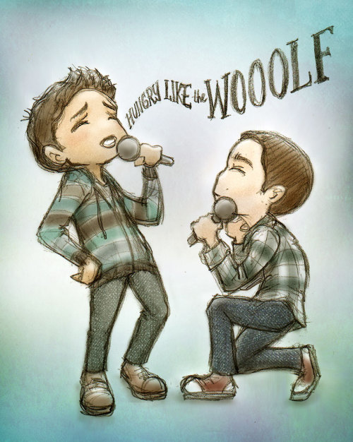 daunt:  maichan808:  prompt: karaokeThis was the last time Scott let Stiles pick the song Ugh, I am so out of practice drawing chibis /o\  precious