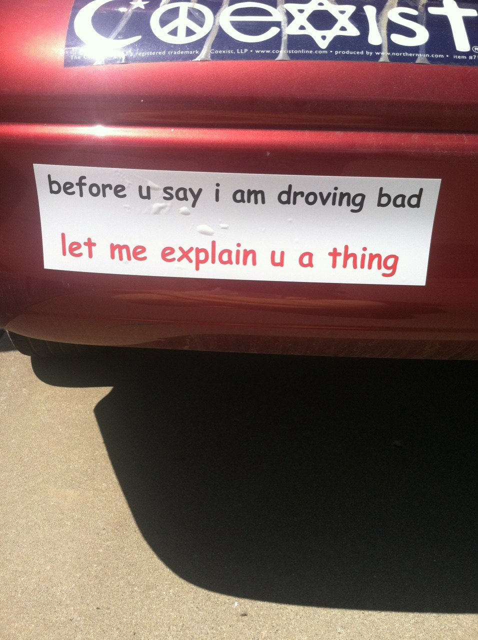 nasty-otter:  new bumper sticker came today
