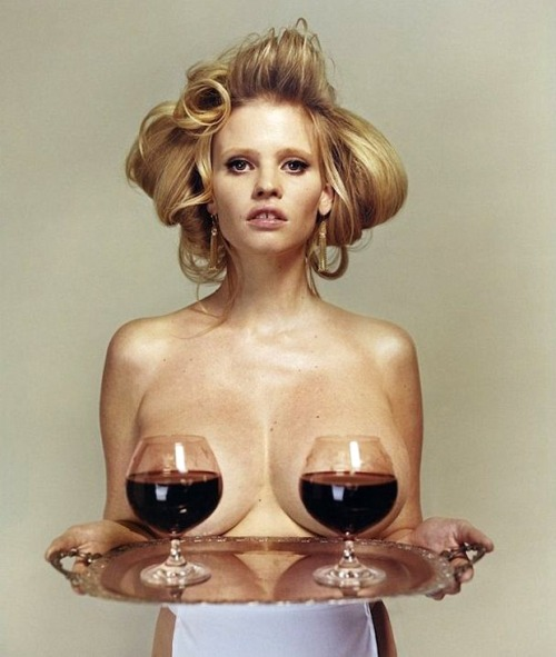 Fill up on wine http://www.fashionising.com/pictures/b—lara-stone-wine-id-magazine-50296.html