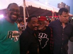 Mick Collins of the Dirtbombs, Melvin Van Peebles, Steve Myers of Mighty Fine and Greg Dulli - ATP Festival New York 2012