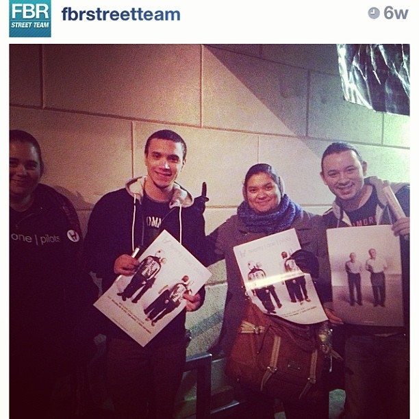 Me and @rockergurl85 were featured on @fbrstreetteam for promoting @twentyonepilots at the #MTVArtistToWatch show in NYV.