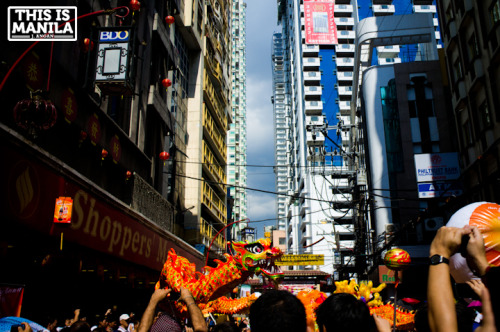 Chinese New Year celebrations along Ongpin Street. February 10,2013|Binondo, Manila