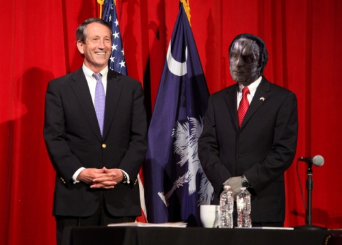 "BREAKING: Gul Dukat endorses Mark Sanford for S.C. House seat.#######CHARLESTON, S.C. - On Sunday morning in Charleston, Gul Dukat and former South Carolina Governor Mark Sanford stood at campaign rally in front of a roaring crowd. Gul Dukat opened the rally by urging voters to choose Sanford over Elizabeth Colbert-Busch.Citing Busch's friendship with former House Speaker Nancy Pelosi, Dukat told the audience that a, ""..vote for Busch is a vote for Pelosi.""Dukat continued his speech, referencing his past as the former popular leader of Bajor, ""Back when I was Prefect of Bajor, I went through a turbulent time when Bajoran terrorists began attacking Cardassian installations all over Bajor. I crushed those terrorists.""""I had never doubted myself. I persevered and crushed them. That's leadership."", and he added, ""That's the kind of leadership that Mark Sanford has.""Gul continued, ""I normally don't get involved in races like this, but Busch reminds me of a lady that I once admired.""He added, ""Mark Sanford is going to crush Elizabeth Colbert-Busch.""#######"