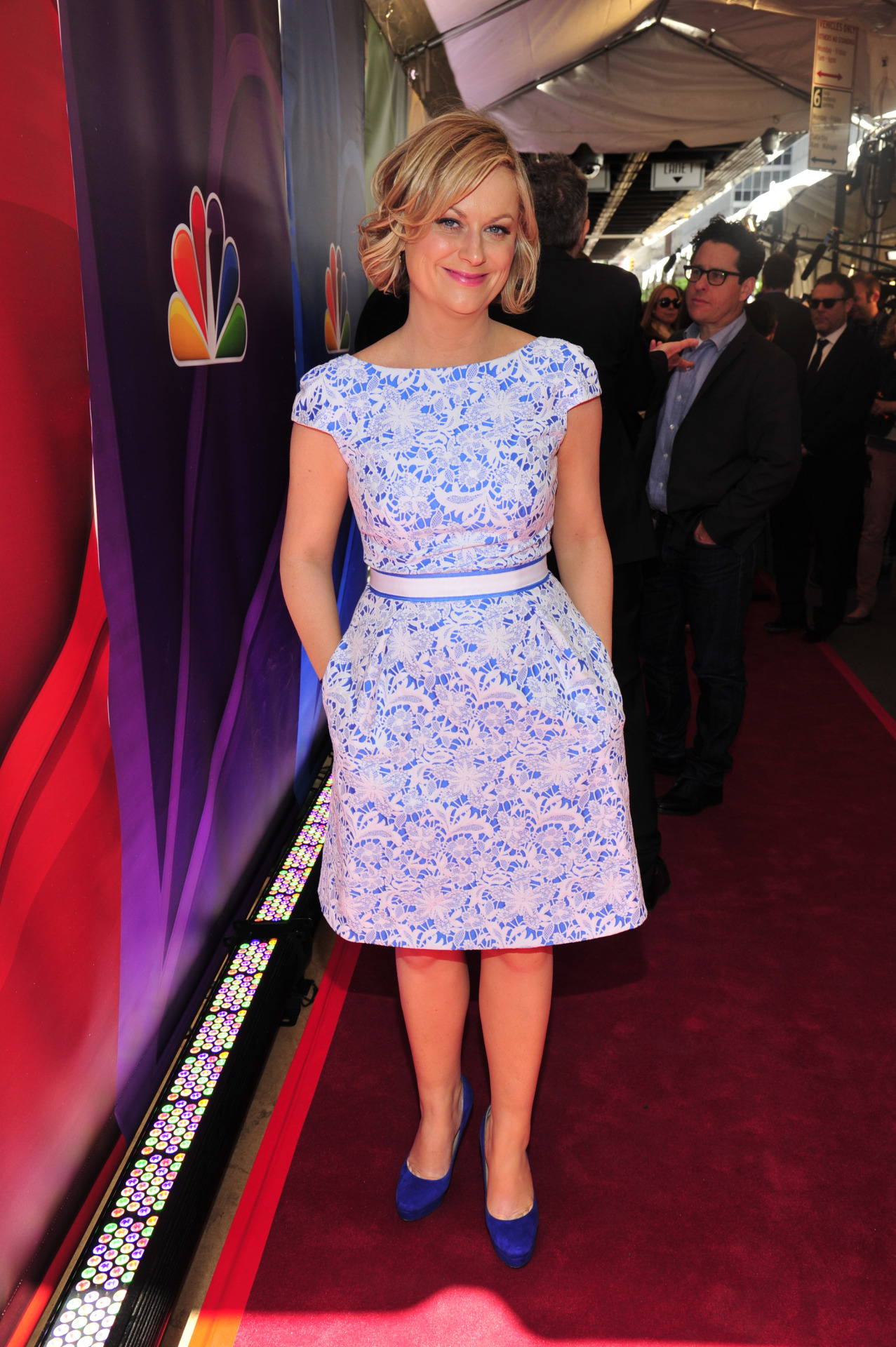 Amy Poehler is perfection in blue.