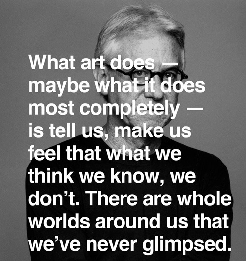 everythingyntk:  Grell Marcus on what art does…