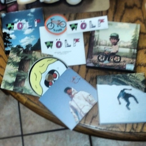 Finally. FUCK YEAH. #Wolf #TylertheCreator #happy #album #deluxeversion #golfwang #WolfCD #CD #oddfuture