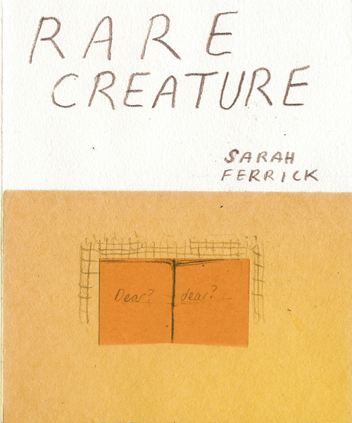 "sonatinacomics:   ""Rare Creature"" by Sarah Ferrick The first book in a new series from Sonatina. Will have copies available at CAKE in Chicago."