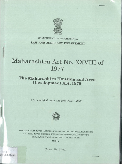 1976 maharashtra housing and area development act