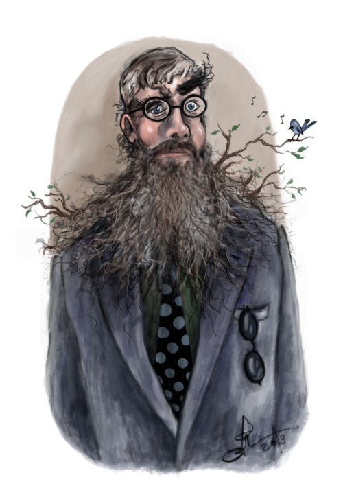 "Philip Ardagh. Author of the Eddie Dickens, Unlikely Exploits and Grubtown Tales series of books (among others). When I posted this on facebook, the man himself wrote: ""…it is a thing of outstanding beauty. Then again, look at the material you had to work with, ;0)}}}}"" What a guy. What an incredibly tall, hairy guy."