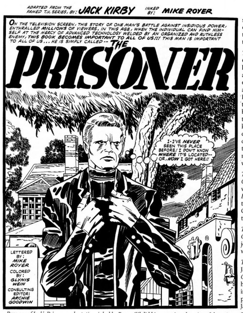 Jack Kirby does The Prisoner. I have never been intimidated by SLEEVES before.