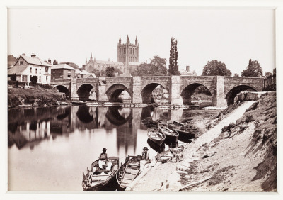 'Hereford, The Old Wye Bridge and Cathedral No.1' by National Media Museum on Flickr.
