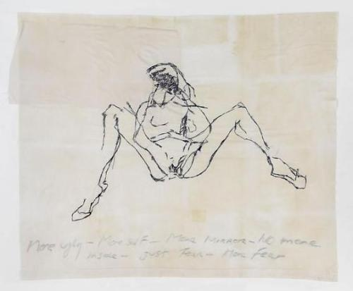 corrodedvessel:  TRACEY EMIN No More Mirror, 2009 embroidered cotton 50.79 x 62.01 inches (fabric) 129 x 157.5 cm 57.87 x 69.09 x 3.74 inches