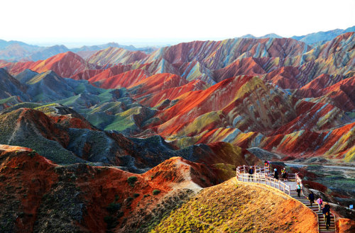 Rock rainbows. Zhangye Danxia Landform, China. More eye candy here.
