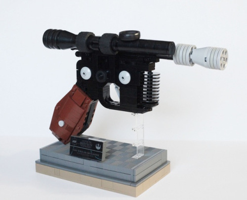 laughingsquid:  Han Solo's DL-44 Pistol Built With LEGOs  Lego fan?!?! Or Star Wars fan…you decide.