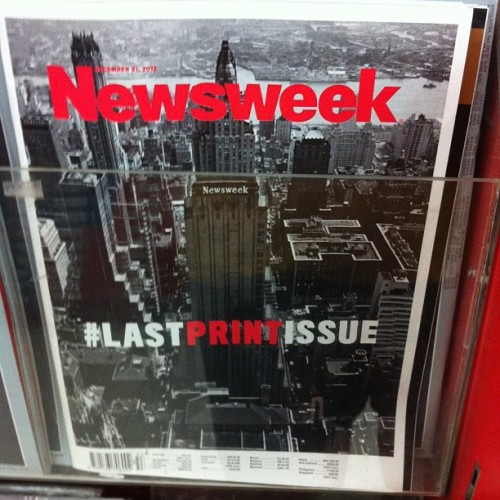#LastPrintIssue #Newsweek (at National Book Store)