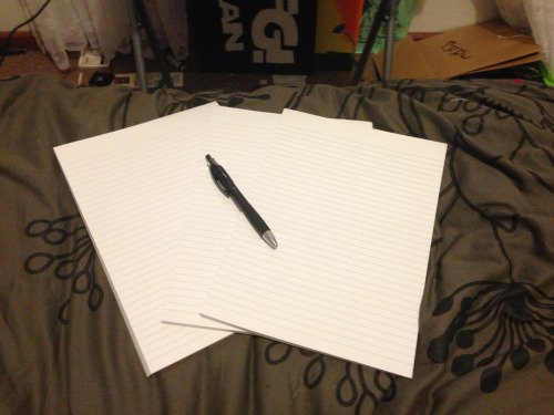 handpickedhappiness:  I just bought these three big notepads, and I am bored. For every person who reblogs I will not only write your URL down but I will also write a little story to go along with what I can deduce about you from your blog. Before I leave them somewhere, whether that be at my school, in town, tucked inside a book at the library - ill take a picture and send it to you. edit: You don't even need to be following me.