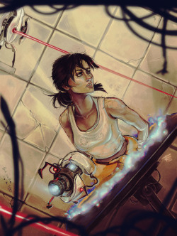 o0-fotisha-0o:  Chell from Portal By Felicia Smith