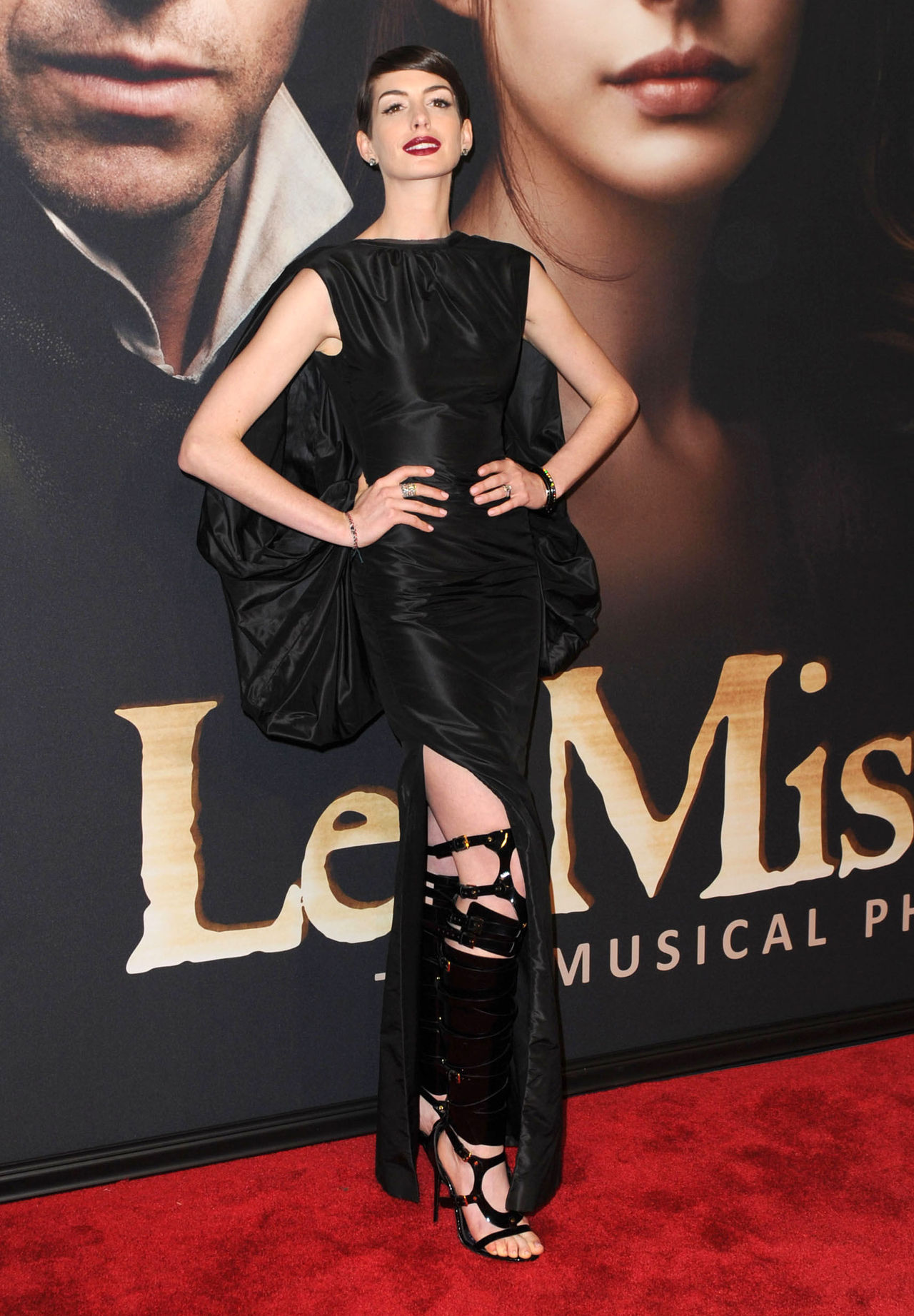 Anne Hathaway (in Tom Ford) at the NYC premiere of Les Miserables, December 10th
